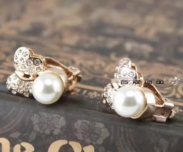 crystall pearl lady;s серьги (1.4*1.6 cm) (ming320 )