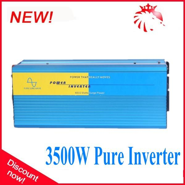 DHL FedEx UPS free shipping 12v 24v 48volt dc to ac power inverter 24v dc 230v ac inverter 3500W pure sine wave inverter
