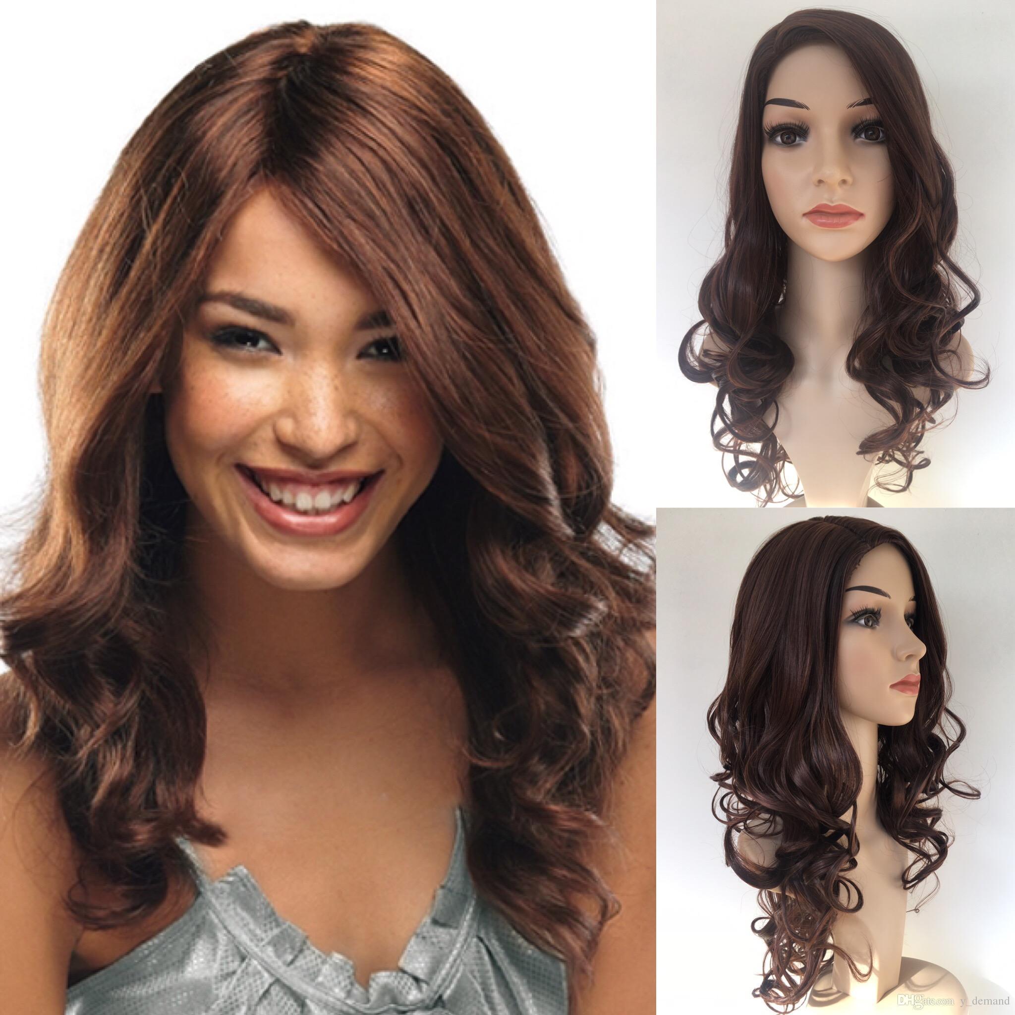 Mode Longue Tenue De Cheveux Coupes De Cheveux Kanekalon Top Qualité Résistant À La Chaleur Afro-Américaine Femmes Perruque Nouveaux Cheveux Pour Les Femmes En Stock Y demande
