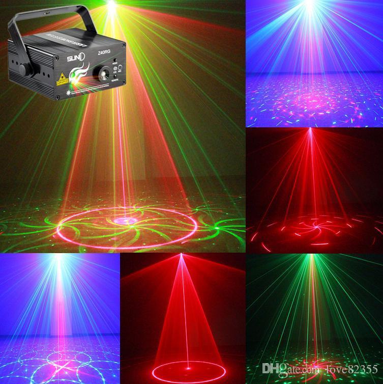 새로운 3 렌즈 40 패턴 클럽 바 RGB 레이저 블루 무대 조명 Dj 홈 파티 쇼 프로페셔널 프로젝터 라이트 디스코