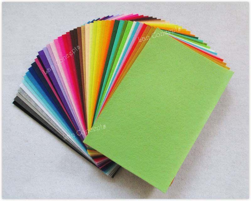 Spedizione gratuita fai da te poliestere feltro tessuto non tessuto foglio per lavoro artigianale 42 colori - 200x300x1mm 84 pz / lotto LA0074
