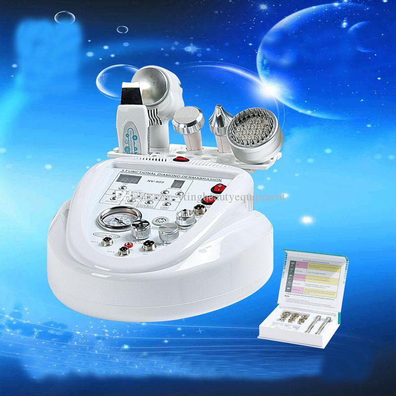 5 in 1 elmas mikrodermabrazyon ultrasonik makine cilt temizleyici BIO yüz germe