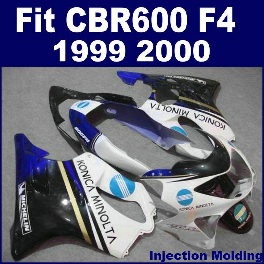 حقن صب عالية الجودة لهوندا أجزاء إصلاح الجسم fairings CBR 600 F4 1999 2000 أبيض 99 00 cbr600 f4 fairings المخصصة N8MD