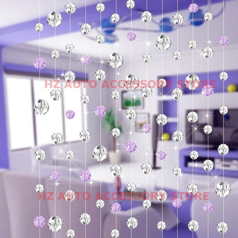 10m / 10pcs 유리 크리스탈 비즈 커튼 패션 럭셔리 홈 거실 침실 장식 웨딩 장식 센터 피스