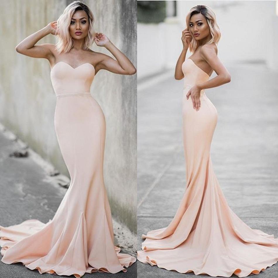 Simple 2016 Cheap Mermaid Evening Dresses Long Backless Formal ...