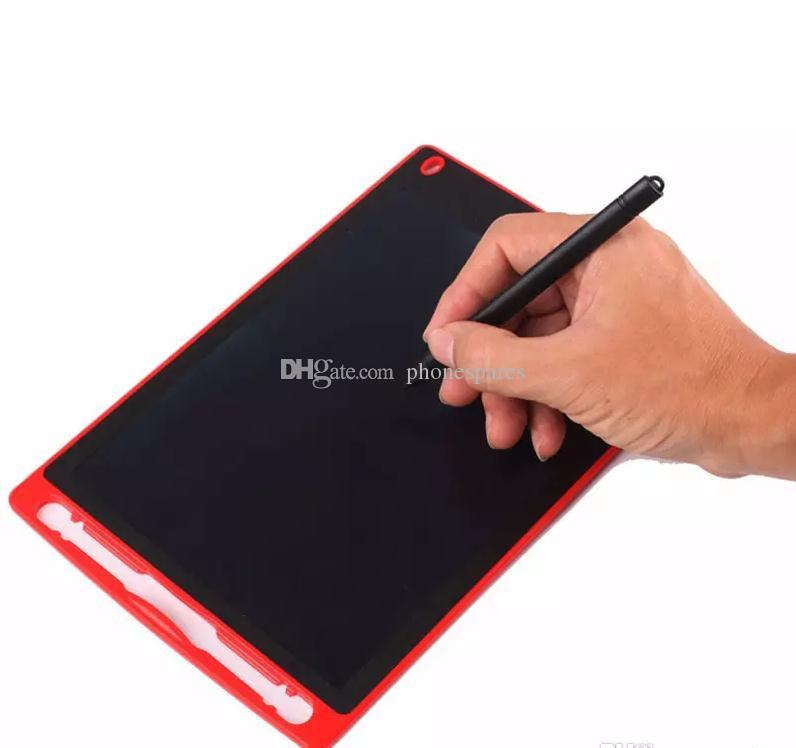 DHL Free 8.5/12 inch Portable LCD Writing Tablet Erasable Drawing Board Paperless Memo Blackboard Handwriting Pad Christmas Gift for Kids