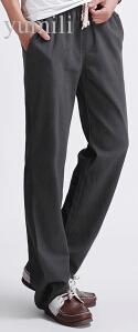 Leinenhosen der Großhandels-heißen Verkaufs-Mens-Art- und Weise 2015 lose Pantalones-beiläufige Hosen-Hose für Mann-schwarze Khaki-Rüttler-Hosen