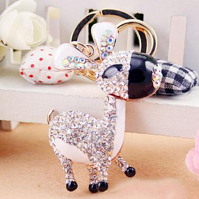 New Design Cute Donkey Keychains/key ring with rhinestone,Purse/handbag Charms,Gift Real Gold Plated Alloy Keyring,free shipping