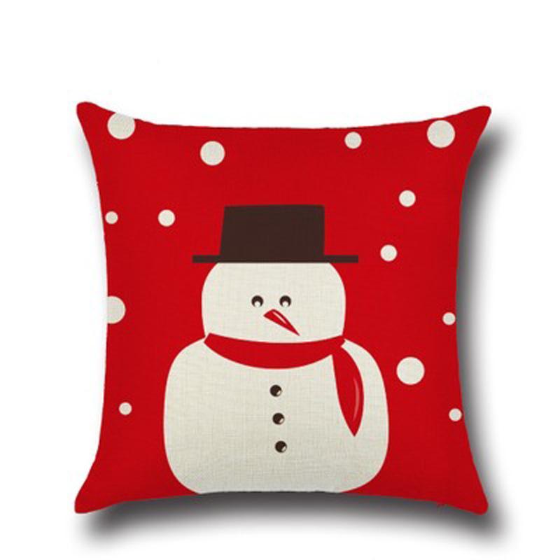 Urijk Siège 45x45 jouets Home Tickowcase Couverture Noël pour coussin Décorations de canapé Coussin Coussins de marque Coussins de marque Santa Multicolor hesmt