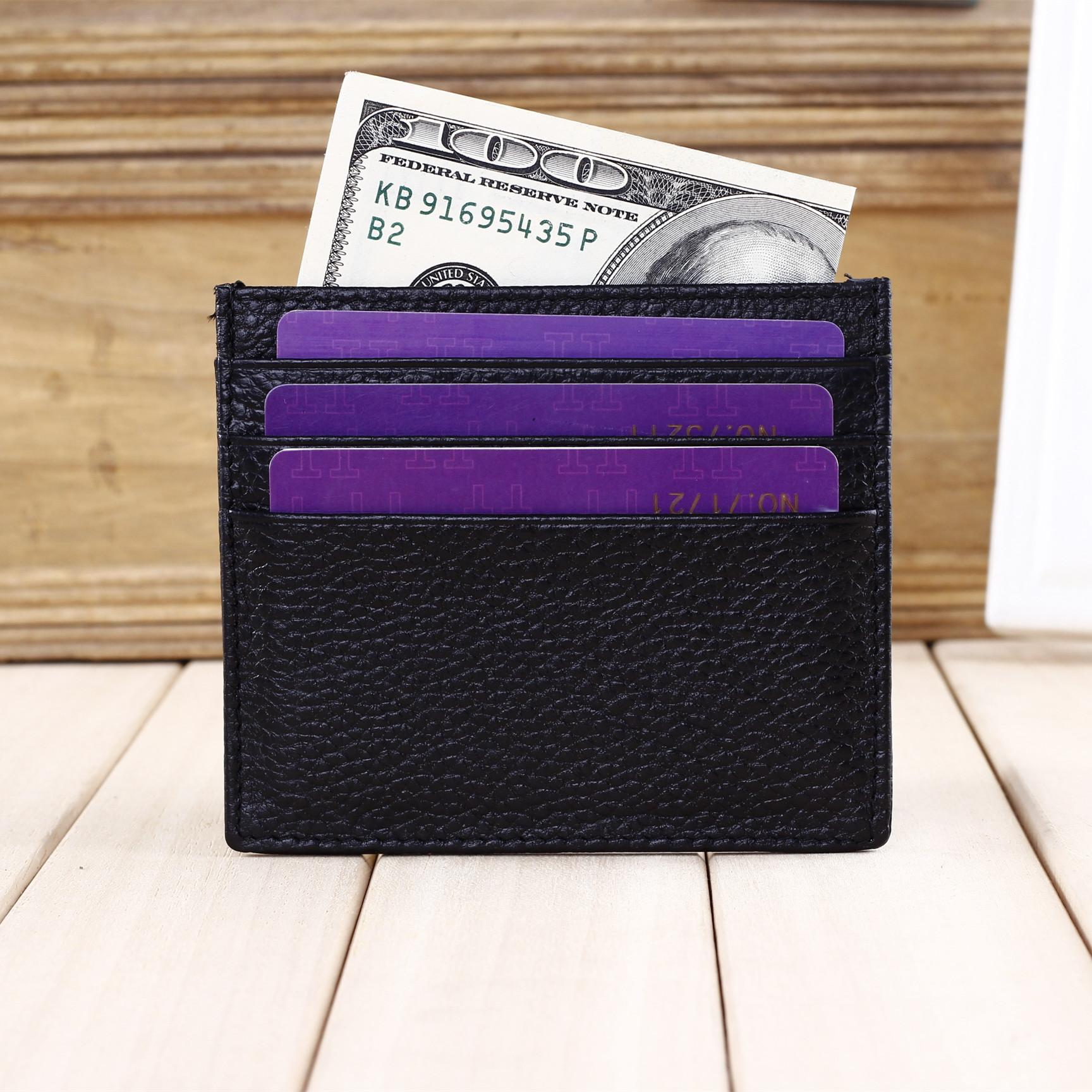 Card Holder For Men And Women Genuine Leather Credit Card Wallet Design Credit Card Wallet Men MOQ 10 Piece