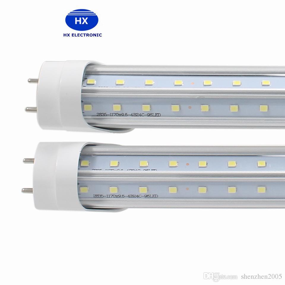 V-Shaped 4ft 5 pi 6 pi 8 pi Cooler Porte Led Tubes T8 G13 R17d Tubes LED Double Sides SMD2835 Led Lampes fluorescentes AC85-265V UL DLC