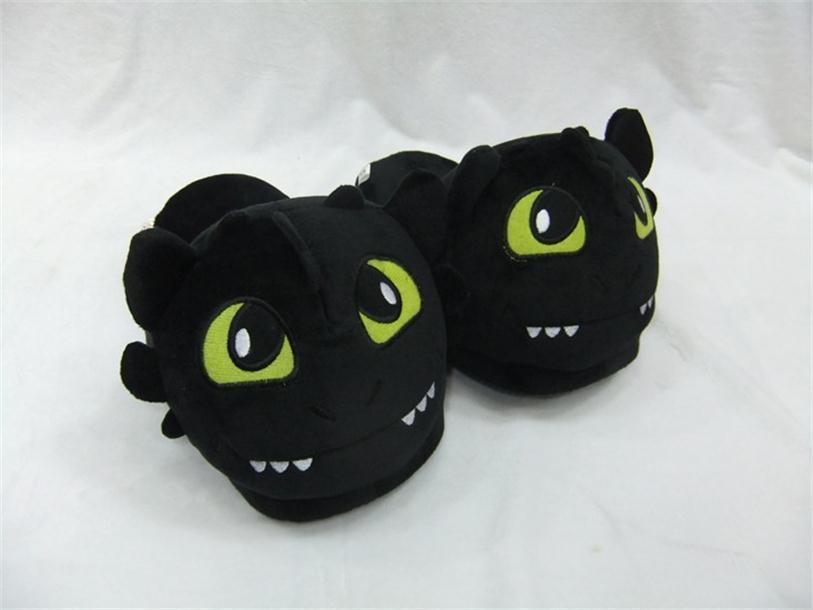 Darmowa wysyłka Jak wytresować smoka bezzębne buty pluszowe buty zimowe ciepłe kapcie Dwa style dla dorosłych otwarte usta zamknij usta