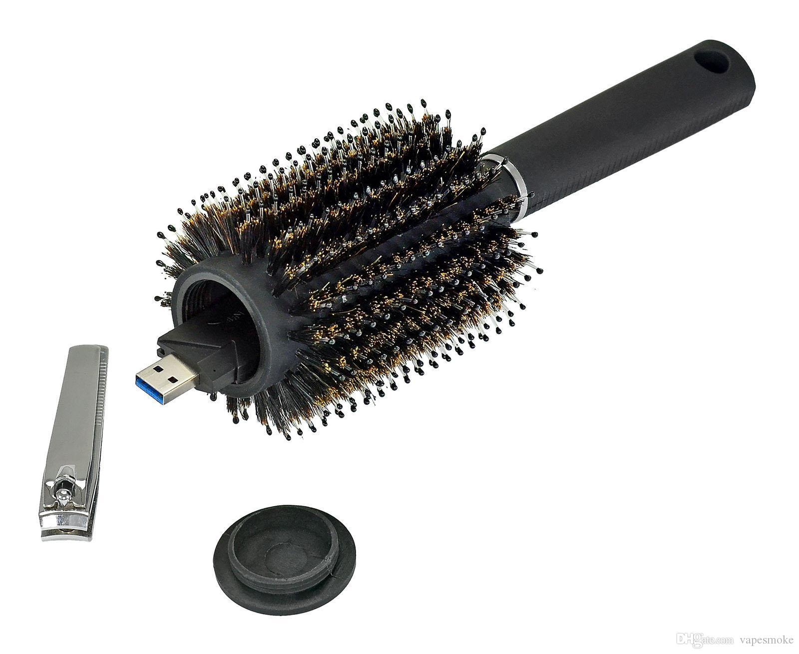New hot Hair Brush Black Stash Safe Diversion Secret Security Hairbrush Hidden Valuables Hollow Container for Home Security Storage box