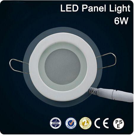 Os recém-chegados LED vidro redondo painel recesso parede teto Downlight AC85-265V 6W / 12W / 18W alto brilhante SMD5730 LED luz interior