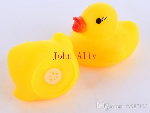 Trasporto libero Cute Soft Rubber Float Sqeeze Sound Baby Wash Bath Toys giocare Animali Giocattoli vendita calda
