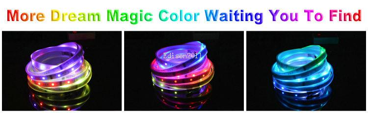 Magic LED Strip Dream Color 6803 IC 5050 RGB SMD Light 150 LEDs 5M waterproof 133 Colors With Controller DC12V