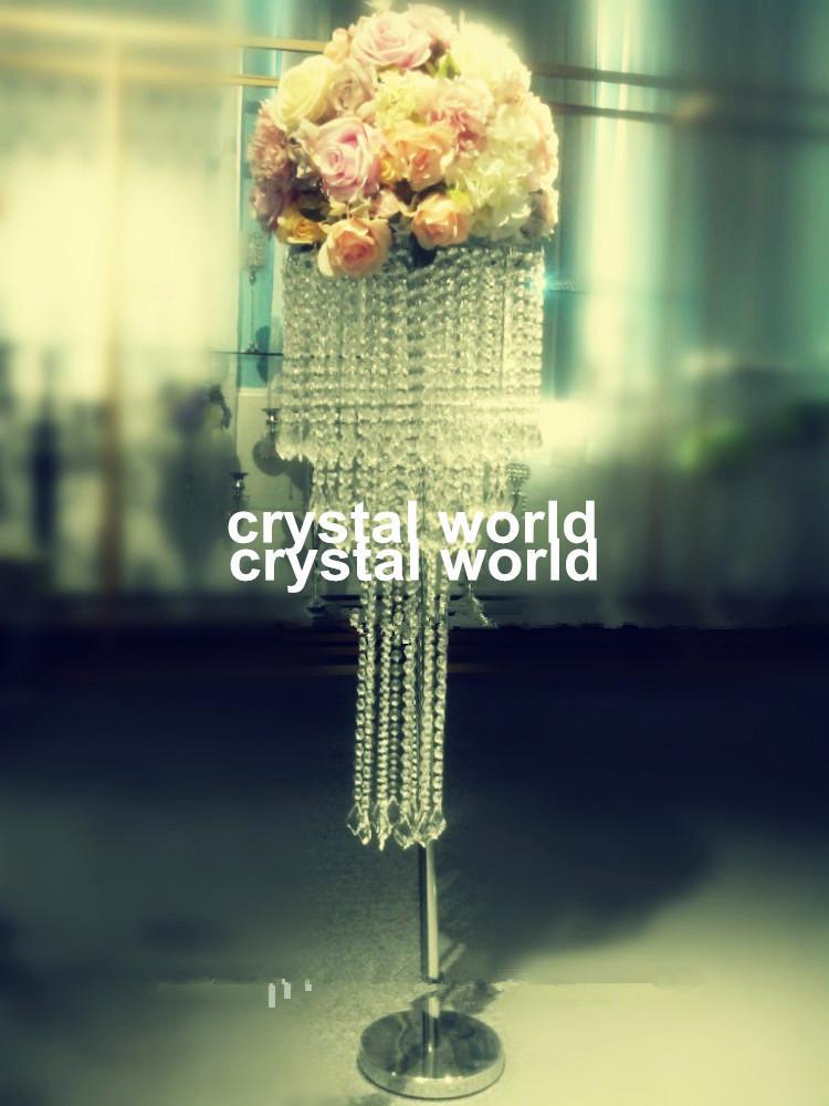 venta al por mayor elegante nueva manera de cristal de la manera soporte de la flor / decoración de la mesa de la boda