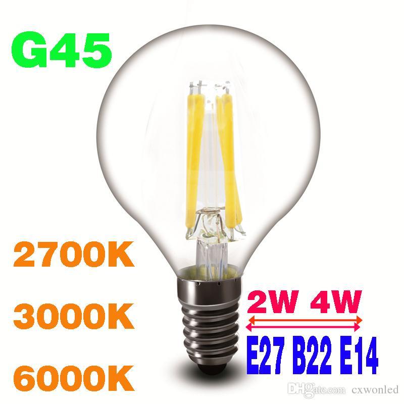 St64 e27//b22 4//6w Edison Vintage DEL Pearl Shape Candle Light Lamp Bulb UK Stock