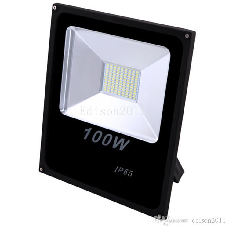 Дешево Новая цена водонепроницаемый белый IP65 100W открытый светодиодный прожектор теплых прохладных светодиодных светов потока AC 85-265V