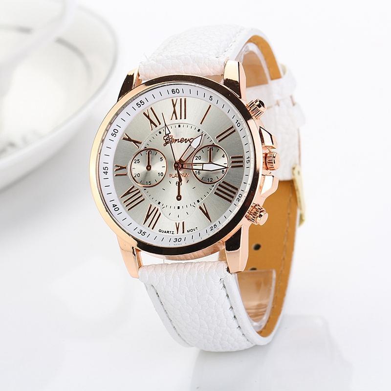 Женева часы Relogio Feminino Relojes Mujer 2015 кожа Женева кварц для женщин платье повседневные часы повседневная наручные часы XR740