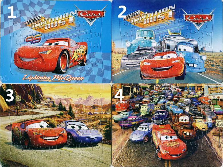 2020 Pack Cars Puzzles 4 Style For Choice Lightning Mcqueen