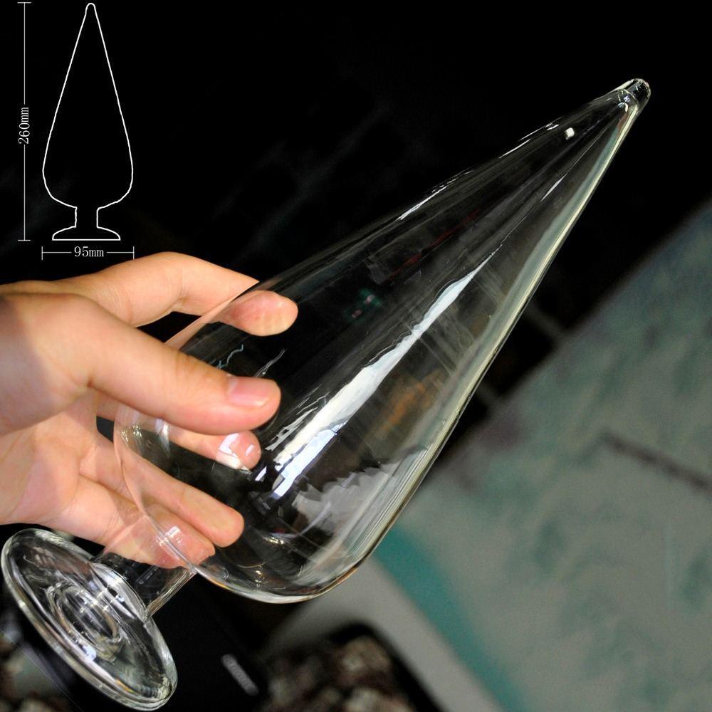 151204 95 мм огромный размер полые pyrex стекло прикладом большой анальный плагин большой фаллоимитатор женский мужской секс игрушки мастурбация продукт для женщин мужчины гей
