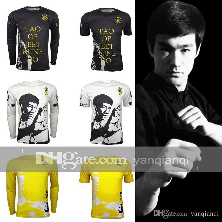 Bruce Lee T-shirt, MMA Tayt Mesh havalandırma Büyük kod Özelleştirilmiş, Uzun kollu ve kısa kollu, Girls'Tights dijital baskı giysi