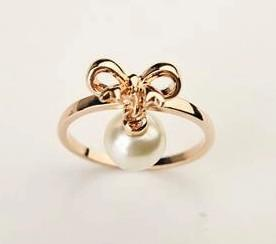 anéis da senhora da pérola do nó do ouro * de prata todo o tamanho (xysppfh)