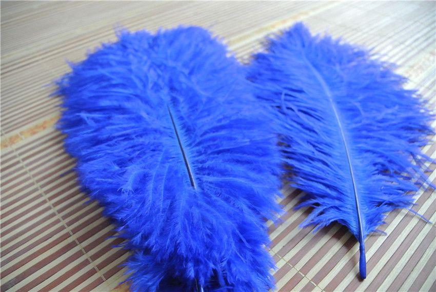 Commercio all'ingrosso 100 pz 14-16 pollice royal blue piuma di struzzo per centrotavola di nozze decorazione di nozze centrotavola del partito