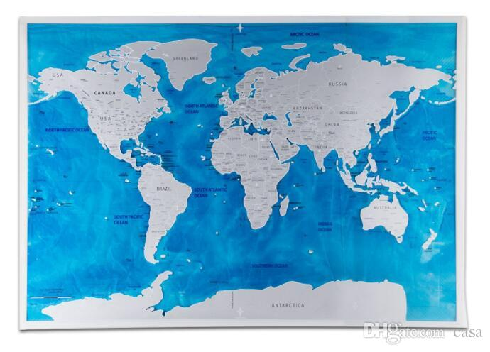 Travel world scratch map blue ocean edition scratch off world map travel world scratch map blue ocean edition scratch off world map journal map gifts 815 gumiabroncs Images