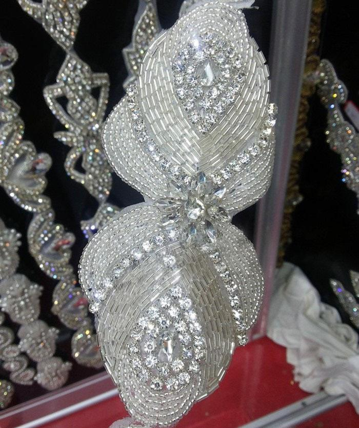 Free shippment Casamento headband / cinto faixa de cristal de strass remendos applique 50 pçs / lote