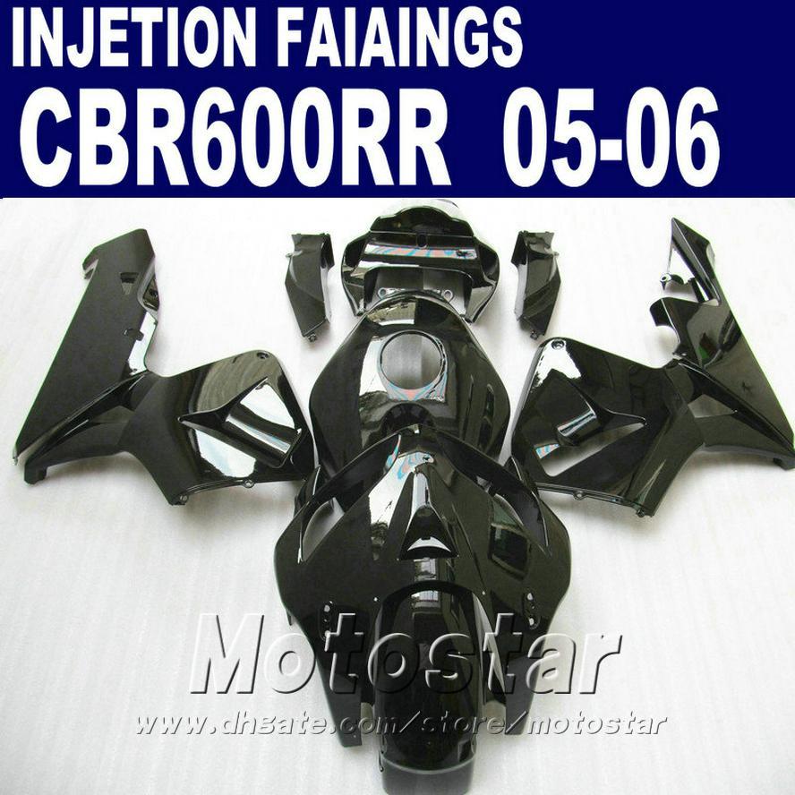 Yeni tüm siyah seti! HONDA CBR 600 RR kaporta 2005 2006 cbr600rr 05 06 cbr 600rr kaportalar JE4F için Enjeksiyon Kalıplama