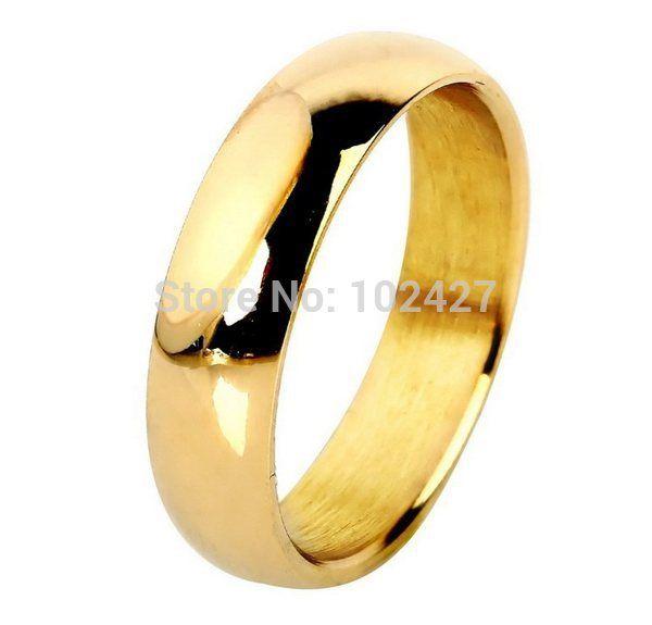 حجم 17-21 ملليمتر 18 كيلو الذهب والفضة مطلي 316l الفولاذ الصلب الرجال النساء مجوهرات خواتم الزفاف الأزياء والمجوهرات السفينة حرة