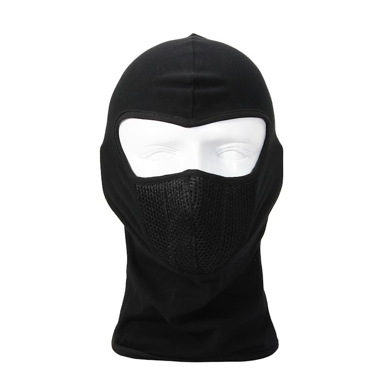 Outdoor caps black high quality outdoor motorcycle ride warm dustproof cotton full face mask for cycling