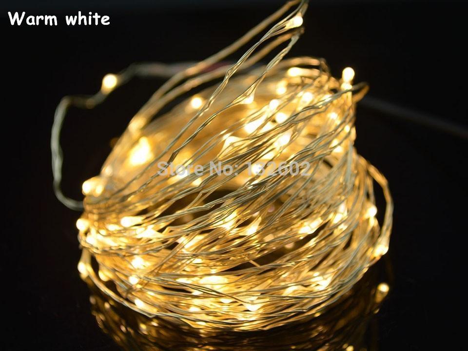 Hurtownie-8 Kolory 10 M 100 LED Silver / Copper Wire LED String Fairy Light Lampka z Wielkiej Brytanii, USA, UE, adapter wtyczki AU do dekoracji