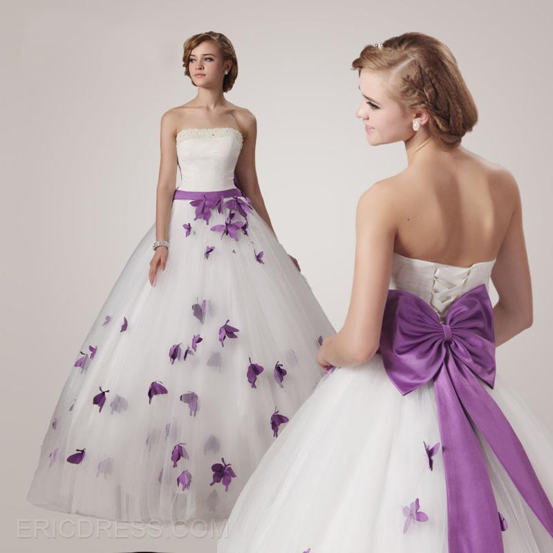 Discount Nwd7 2016 Fashionable Of Bride Purple Butterfly Wedding ...