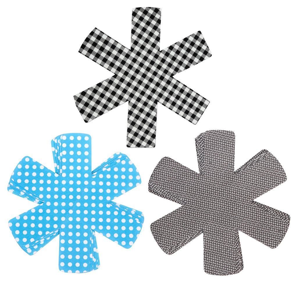 Wholesale- 8pcs/lot Pan Protectors Pot Pad Table Mat Placemat Cup Coasters Heat-resistant Non-woven Cloth Home Decors DIY Size