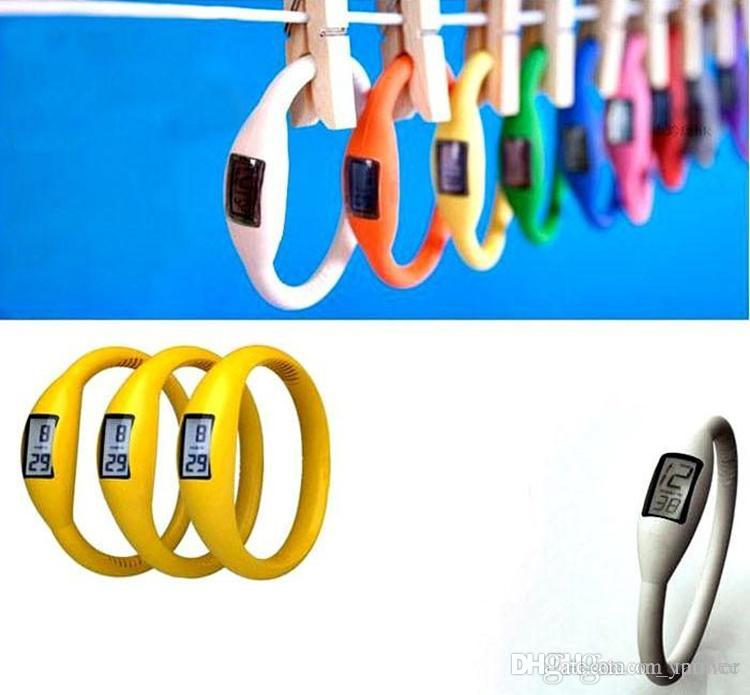 wholesale Cheap LED watches girl boy sport Anion Negative Ion Fashion Silicone LED Bracelet DHL Free Shipping
