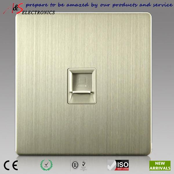 2019 1 gang rj45 cat5e/cat6 internet data outlet socket in wall for web  cable wiring with brushed stainless steel faceplate from zhuwu3, $52 81 |  dhgate com