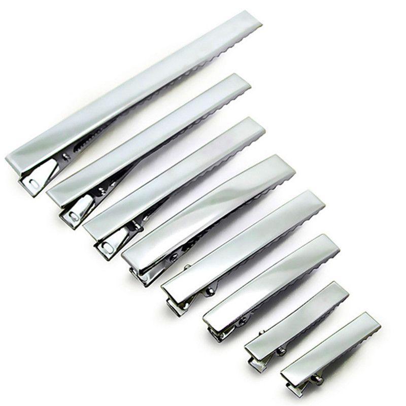 200pcs 32mm-95mm 좋은 품질 금속 단일 족장 악어 클립 아기 머리 클립 Barrette 클립 머리핀 for Hair Bows DIY 헤어 액세서리