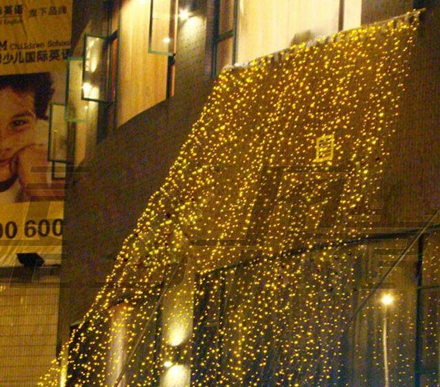 4 متر × 3 متر 400 led الستار ضوء سلسلة عيد الميلاد حفل زفاف عطلة رومانسية الديكور فلاش سلسلة أضواء الجنية مصباح