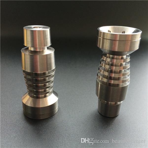 Glasvatten Bong Pipe Titanium Nail för både 14.5mm och 18.8mm Gratis frakt