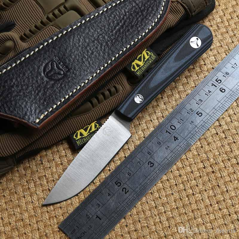 """Black  Straight Leather Sheaths For Less 7/"""" Fixed Knives  Pouch Bag For Huntting"""