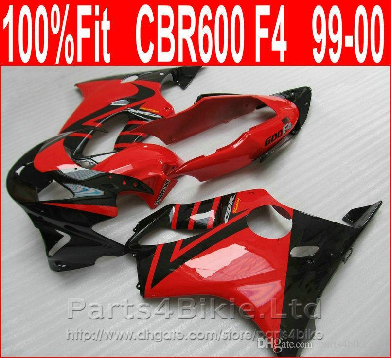 Funzione Red Black Style Body Parts per Honda CBR 600 F4 carens personalizzato 1999 2000 CBR600 F4 99 00 Kit carenatura Bosc