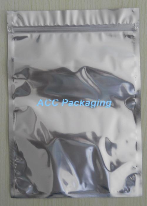 """22x31cm (8.7 * 12.2"""" ) Imballaggio d'argento di alluminio / trasparente richiudibile della chiusura lampo al minuto di plastica Pacchetto Bag Zipper blocco Bag al dettaglio"""