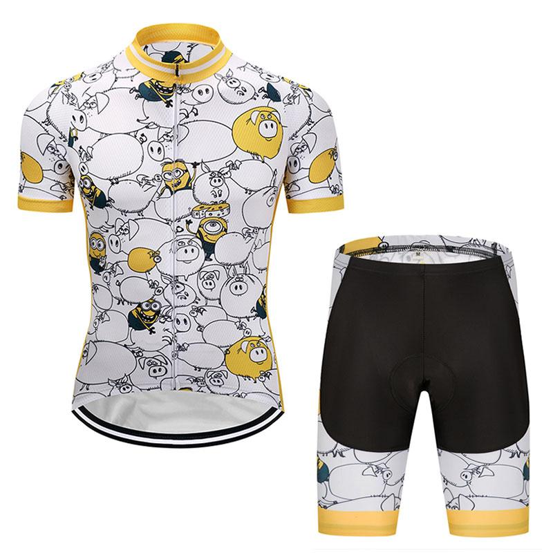 Crossrider Despicable Me Minions Men Cycling Jersey Funny Bike Wear ... c850094a6