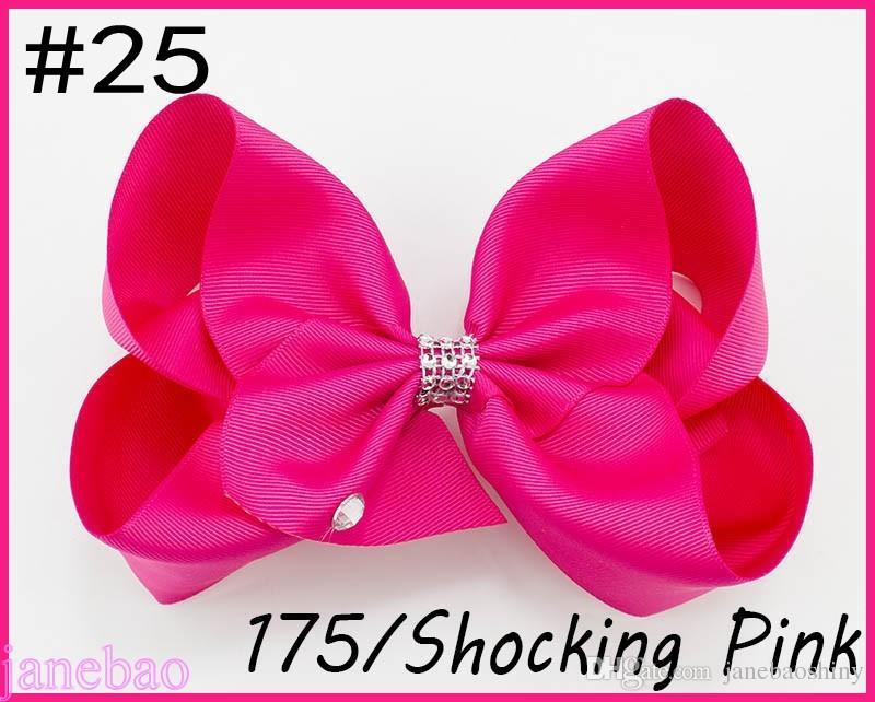 free shipping 300pcs 8''rhonestone hair bows big Signature Hair Bow Dance Cheerleader Pageant Bows