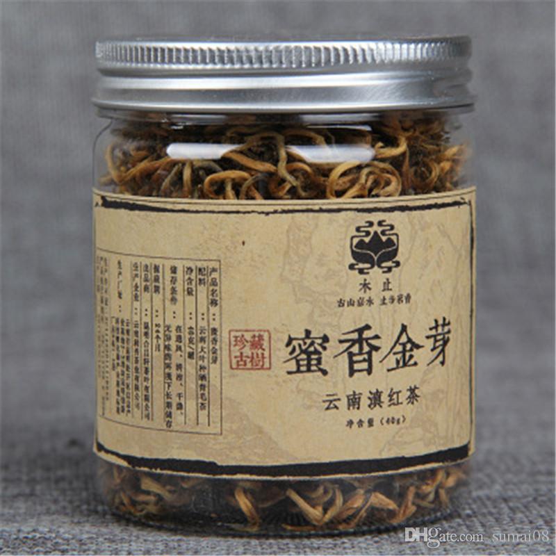 Tercih 40g Yunnan Fengqing Dianhong siyah çay Çinli Kongfu kırmızı çay bal koku altın tomurcukları büyük organik çay yaprakları