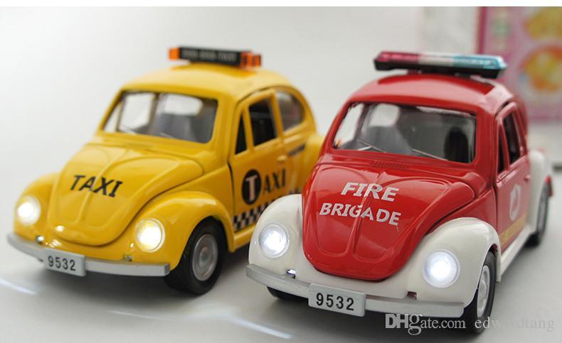 alloy car model police vehicles toy the beatles car modelpull back car