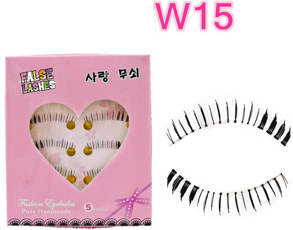 W-15 Natural Reusable False Bottom Eyelashes Lower Lashes Under Lashes